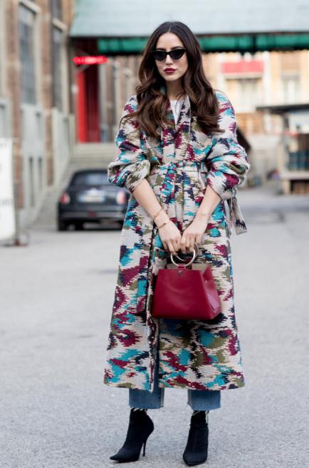 street-style-fashion-week-milao-look-coat-dress-estampa