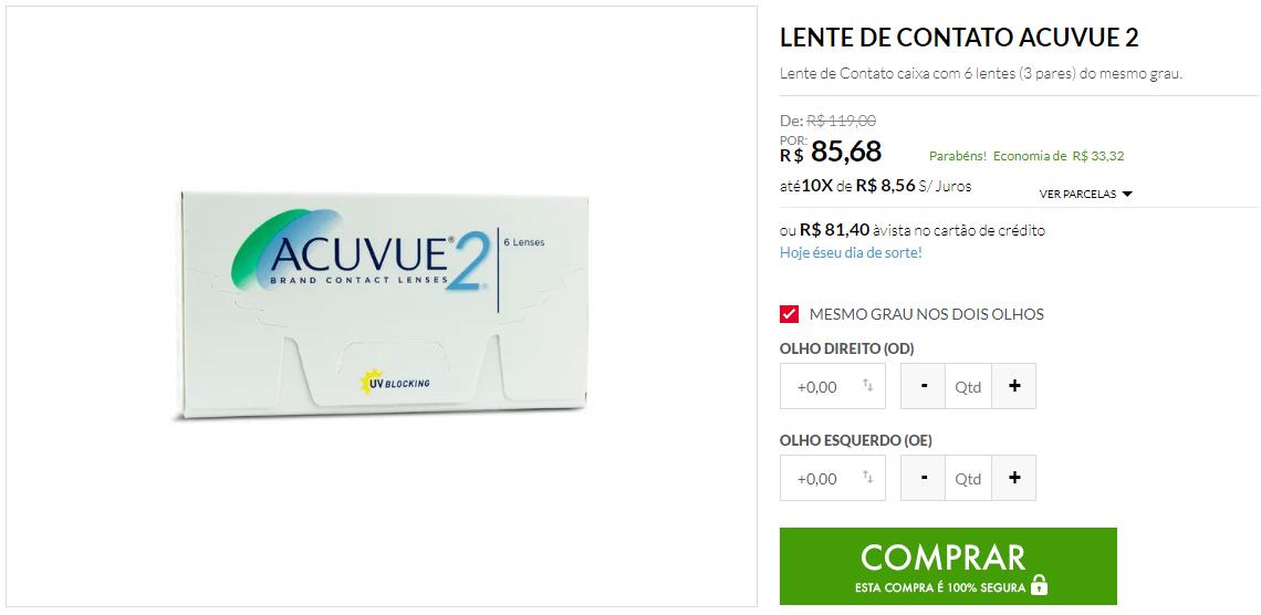 como comprar lentes de contato online