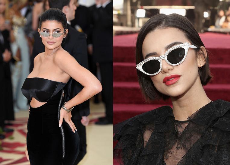 como combinar óculos com vestido de festa