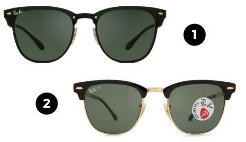óculos clássicos ray-ban - modelos clubmaster