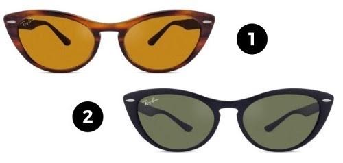 óculos clássicos ray-ban - modelos gatinho