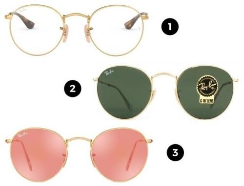óculos clássicos ray-ban - modelos redondos