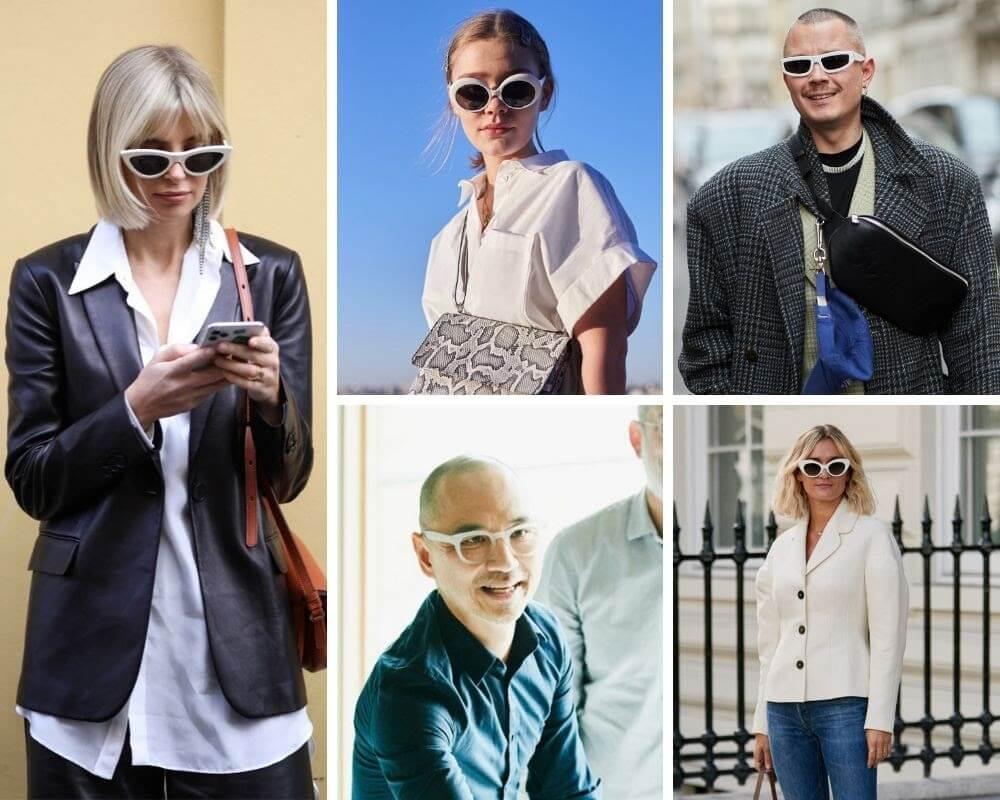 óculos brancos - modelos e estilos