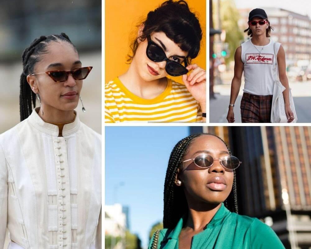 óculos minimalistas - cores