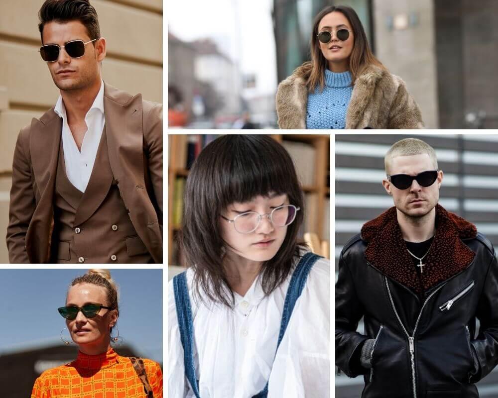 óculos minimalistas - modelos