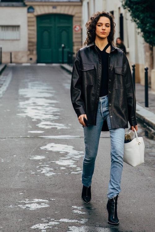 peças básicas - jaqueta de couro